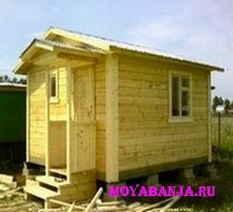 Как построить небольшую загородную баню