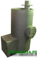 Вертикальная банная печь из трубы своими руками