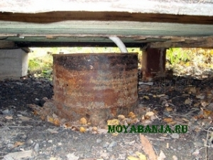 Отвод сточных вод из бани.