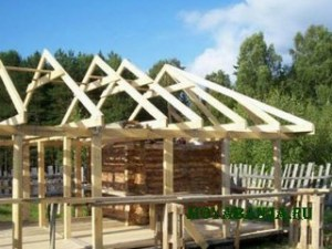 Устройство крыши бани