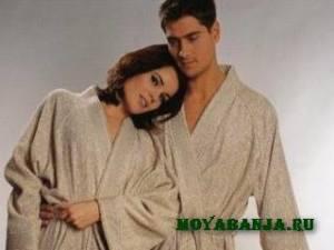 Какие халаты для бани предпочтительней?