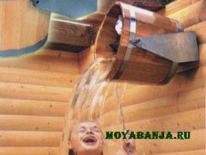 Охлаждение тела после выхода из парной бани или сауны