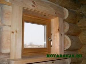 Монтаж окон и дверей бани