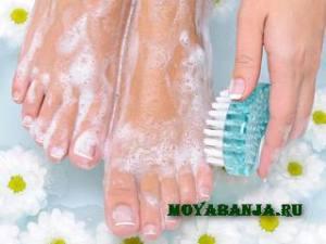 Грибок на ногах  в бане