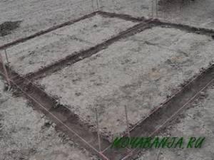 Разметка ленточного фундамента под баню