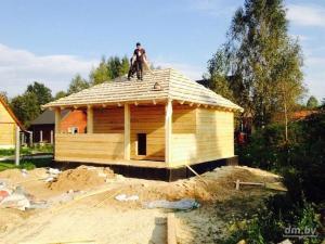Строительство дома из бруса. Строительство бани